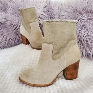 Splendid • Suede + Canvas Ankle Boots